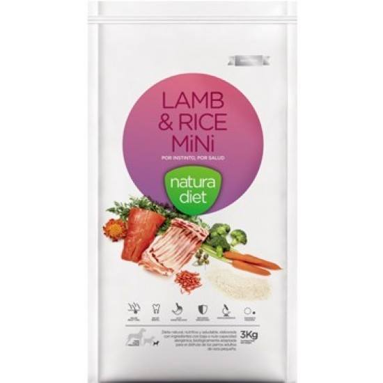 Natura Diet Lamb & Rice Mini (Cordero y Arroz Mini) 3kg